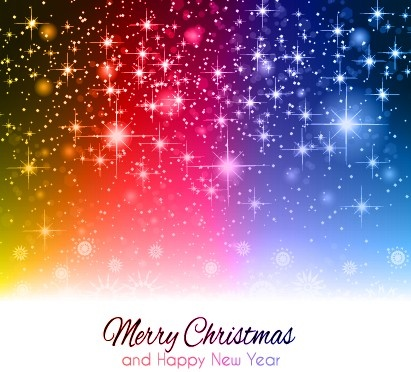 Starlight shiny merry christmas background vector Free vector in