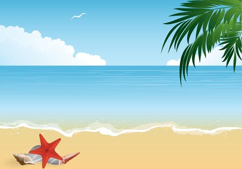 Happy Holidays Anime Girl Wallpaper 1920x1080 Summer Holiday Beach Creative Background Vecor Free Vector