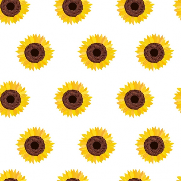 Cute Sunflower Wallpaper Sunflowers Background Multicolored Flat Repeating Decor