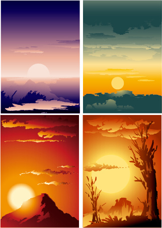 Sunset free vector download (287 Free vector) for commercial use. format: ai, eps, cdr, svg ...