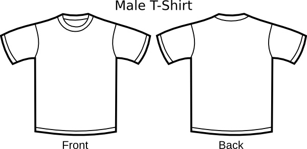 T Shirt Template clip art Free vector in Open office drawing svg