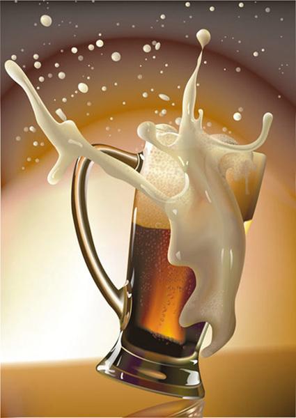 Fashion Cartoon Girl Wallpaper The Cup Of Beer Vector Art Free Vector In Coreldraw Cdr