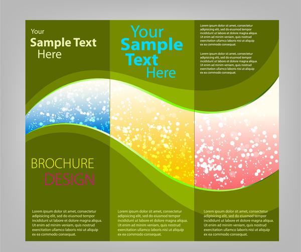 Trifold brochure templates Free vector in Adobe Illustrator ai ( ai