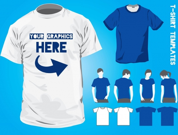 T-Shirt Design Templates Free vector in Adobe Illustrator ai ( ai