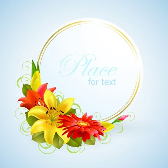 Vector floral greeting card border Free vector in Adobe Illustrator