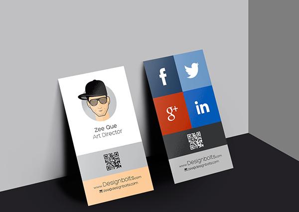 Vertical business card design template Free vector in Photoshop psd - vertical business card