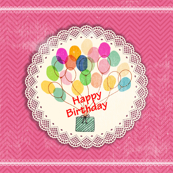 Vintage happy birthday card design Free vector in Adobe Illustrator