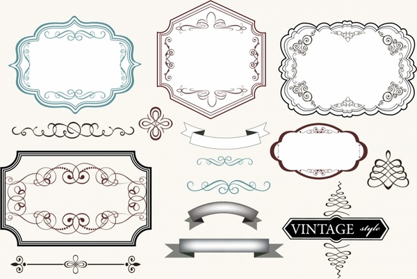 Vintage Labels Free vector in Adobe Illustrator ai ( AI