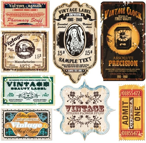 Vintage wine label collection 06 vector Free vector in Encapsulated - free wine label design