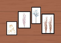 Wall decor with painting arrangement Free vector in Adobe ...