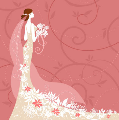 3d Cartoon Girl Wallpapers Wedding Card Background Designs Free Vector Download