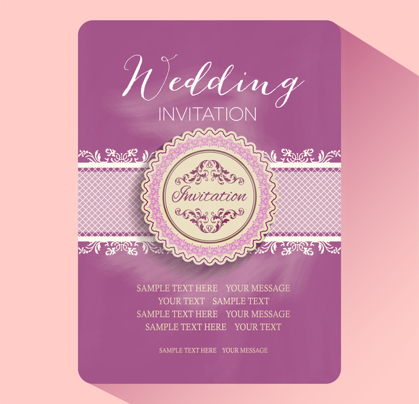 Wedding invitation card templates Free vector in Adobe Illustrator - invitation card formats