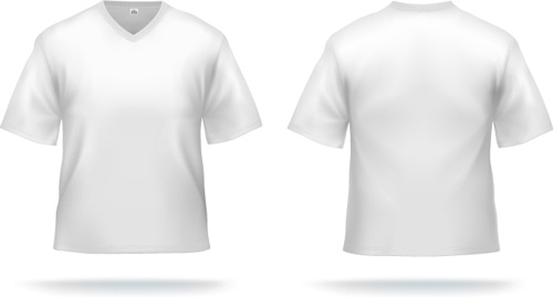 White t shirts template vector set Free vector in Encapsulated
