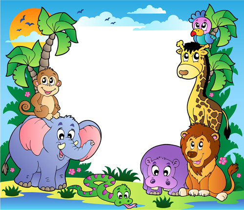Cute Patterns For Wallpapers Wild Animal Cute Cartoon Vector Set Free Vector In
