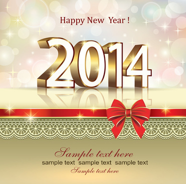 Happy new year 2015 greeting card design free vector download