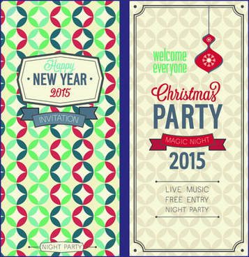 Free vector christmas invitations free vector download (8,430 Free