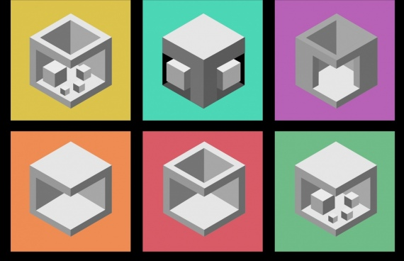 Colorful 3d cube icon free vector download (45,466 Free vector) for