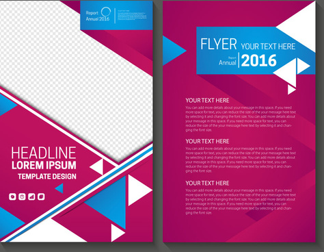 Annual report design template free vector download (13,988 Free