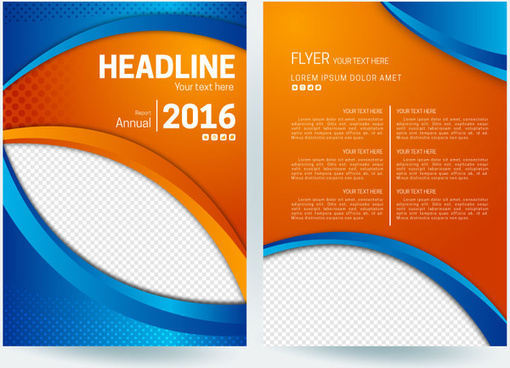 Flyer background template blue free vector download (56,304 Free