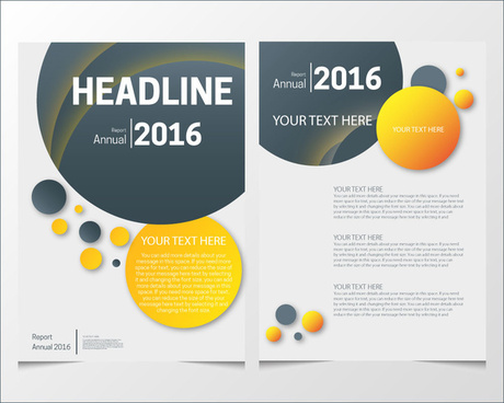 Annual report cover page templates free vector download (17,380 Free