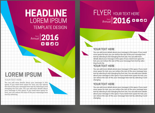 Annual report design template free vector download (16,226 Free