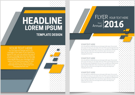 Annual report design template free vector download (13,784 Free