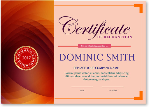 Award certificate free vector download (1,209 Free vector) for