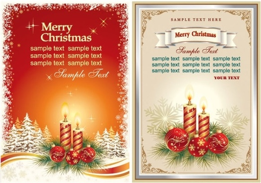 Beautiful Christmas Card Vector Free vector in Encapsulated