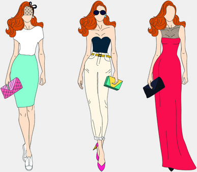 Vector fashion models free vector download (5,045 Free vector) for