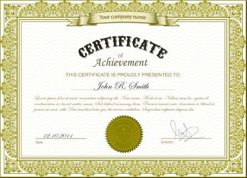 Best certificate photoshop design free vector download (2,898 Free - certificate design format