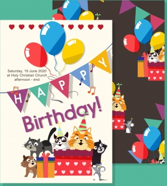 Birthday invitation template free vector download (18,161 Free