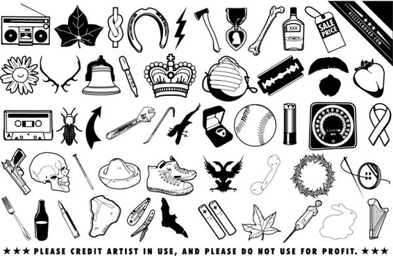 Free black and white clip art free vector download (220,009 Free