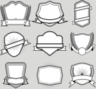 Vector blank labels template free vector download (24,019 Free