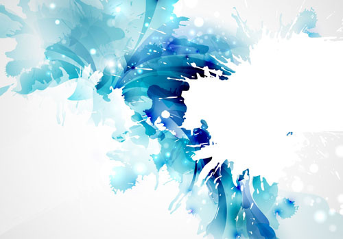 Simple blue flower background free vector download (58,518 Free