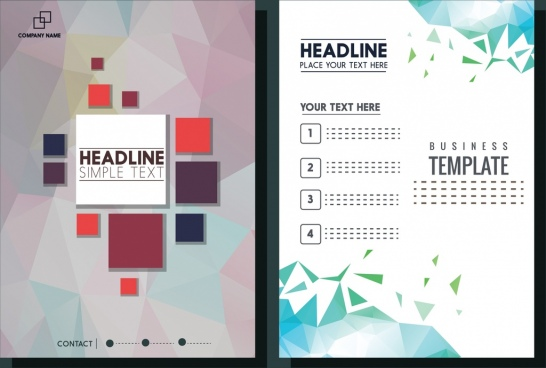 Blank brochure template free vector download (15,085 Free vector