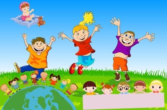 Vector children free vector download (1,085 Free vector) for - cartoon children play