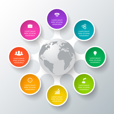 Circle flow infographics free vector download (12,471 Free vector