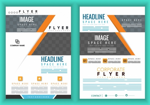 Corporate brochure template design free vector download (17,429 Free