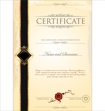 Old certificate border template free vector download (19,917 Free