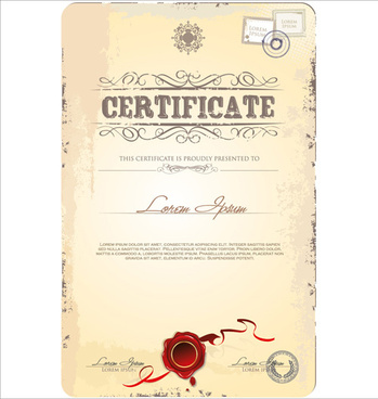 Old certificate border template free vector download (19,176 Free - certificate design format