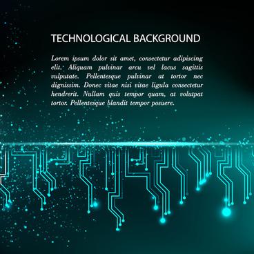 Creative circuit board concept background vector Free vector in - circuit design background