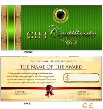 Gift certificate template free vector download (16,257 Free vector