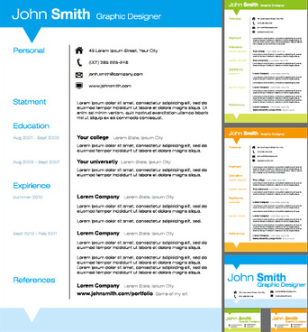 Vector resume templates free vector download (16,102 Free vector