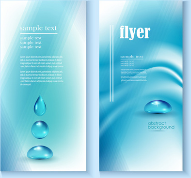 Flyer water free vector download (4,250 Free vector) for commercial