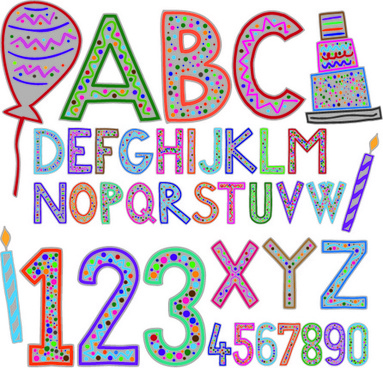 Cute alphabet letters designs free vector download (8,253 Free