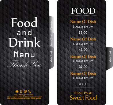Restaurant menu template free vector download (14,741 Free vector