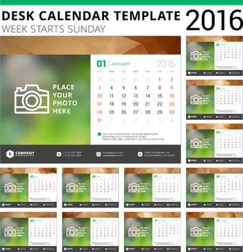 Vector model desk calendar free vector download (2,187 Free vector - calendar template for website