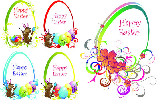 Easter border images vector free vector download (5,974 Free vector