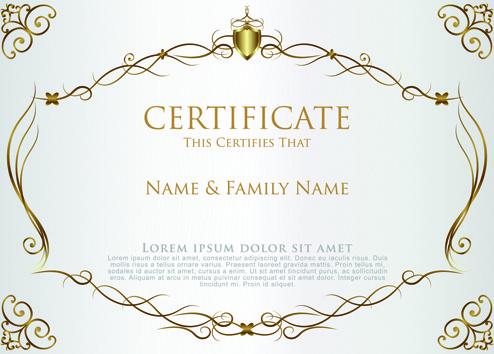 Elegant certificate border free vector download (8,915 Free vector - certificate border template
