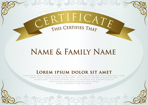 Black elegant certificate border free vector download (14,336 Free - Free Printable Certificate Border Templates